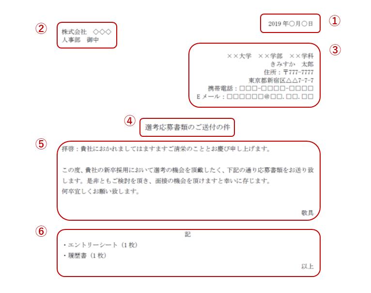 エントリーシート_送付状2