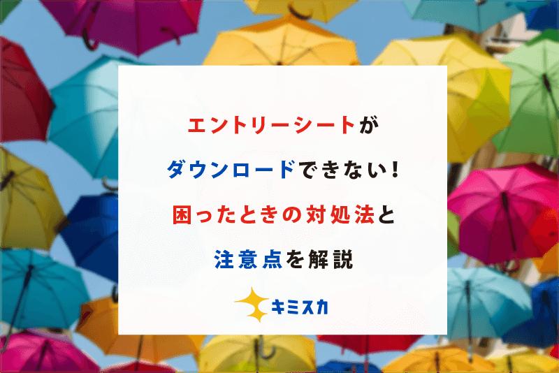 【エントリーシート ダウンロード】